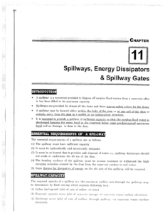 IES MASTER Irrigation Engineering Spillways, Energy Dissipators and Spillway Gates