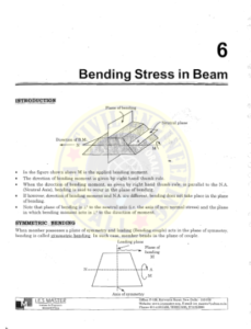 IES MASTER Strength of Materials 2 - Bending Stress in Beams
