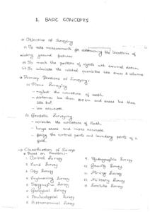 Surveying ACE GATE Handwritten Notes Free Download PDF CivilEnggForAll