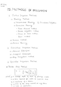 Irrigation ACE GATE Handwritten Notes Free Download PDF CivilEnggForAll 3