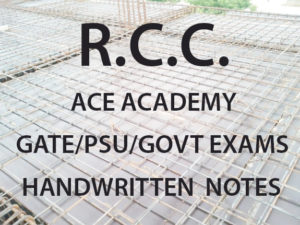 Reinforced Cement Concrete ACE GATE Handwritten Notes Free Download PDF CivilEnggForAll 1