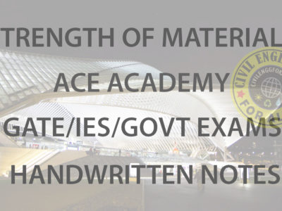 Strength of Materials ACE Academy GATE Handwritten Notes Free Download PDF CivilEnggForAll 1