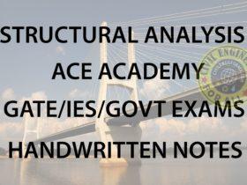 Structural Analysis ACE GATE Handwritten Notes Free Download PDF CivilEnggForAll 1