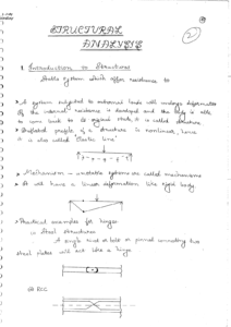 Structural Analysis ACE GATE Handwritten Notes Free Download PDF CivilEnggForAll 2