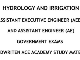 Hydrology and Irrigation - AE - AEE - Civil Engineering Handwritten Notes - CivilEnggForAll