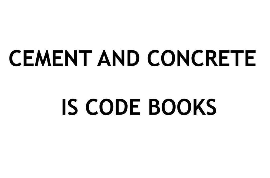 IS CODE BOOK] Cement and Concrete Indian Standard Codes Free