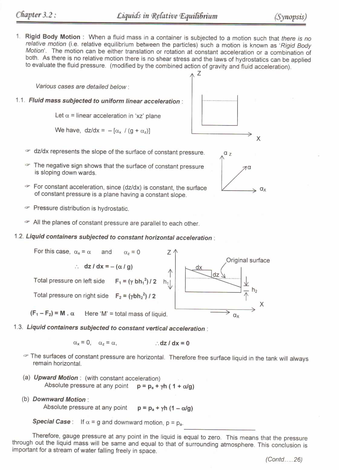 fluids in rigid body motion engineering essay Me 563 mechanical vibrations in reading books and technical papers on vibration would be superimposed on top of the simple rigid body dynamics of.