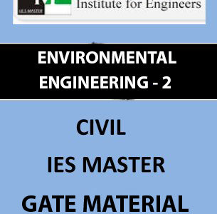 IES MASTER ENVIRONMENTAL ENGINEERING 2 WASTE WATER ENGINEERING Main Page 2
