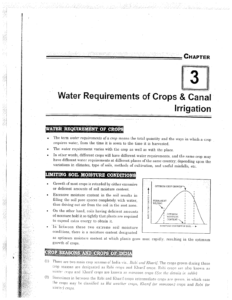 IES MASTER Irrigation Engineering Water Requirements of Crops and Canal Irrigation