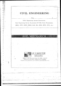 IES MASTER Soil Mechanics GATE PSU IES Material Main 2