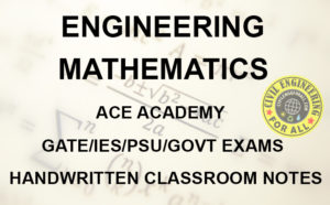 Engineering Mathematics ACE Academy GATE Notes Free Download PDF