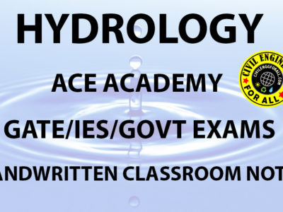 Hydrology ACE Academy GATE Handwritten Notes Free Download PDF CivilEnggForAll 1