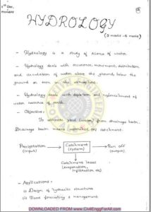 Hydrology ACE Academy GATE Handwritten Notes Free Download PDF