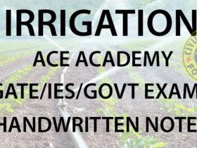 Irrigation ACE GATE Handwritten Notes Free Download PDF CivilEnggForAll 1