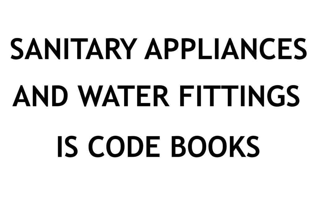 IS CODE BOOK] Sanitary Appliances and Water Fittings Indian