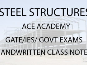 Steel Structures ACE Academy GATE IES Notes Free Download PDF