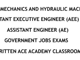 Fluid Mechanics and Hydraulic Machinery - AE - AEE - Civil Engineering Handwritten Notes - CivilEnggForAll