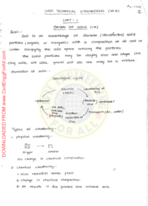 Geotechnical Engineering AE AEE Ace Academy Handwritten Notes PDF