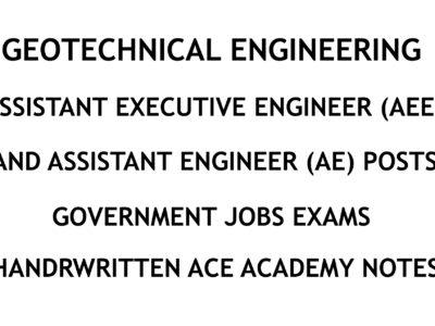 Geotechnical Engineering - AE - AEE - Civil Engineering Handwritten Notes - CivilEnggForAll