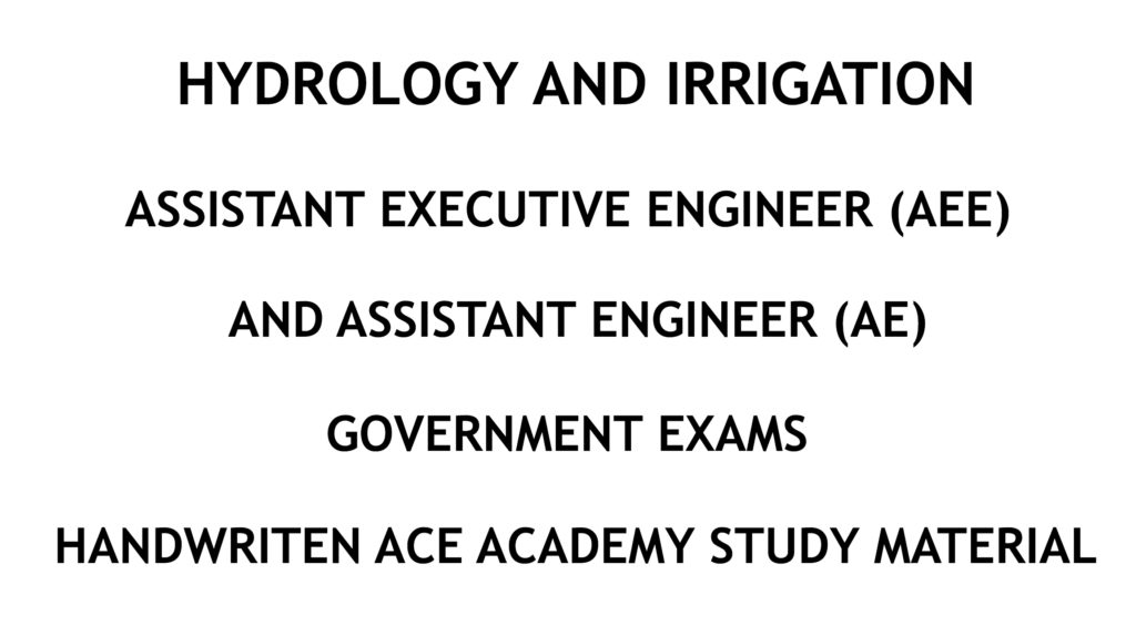 Hydrology and Irrigation AE AEE Ace Academy Handwritten