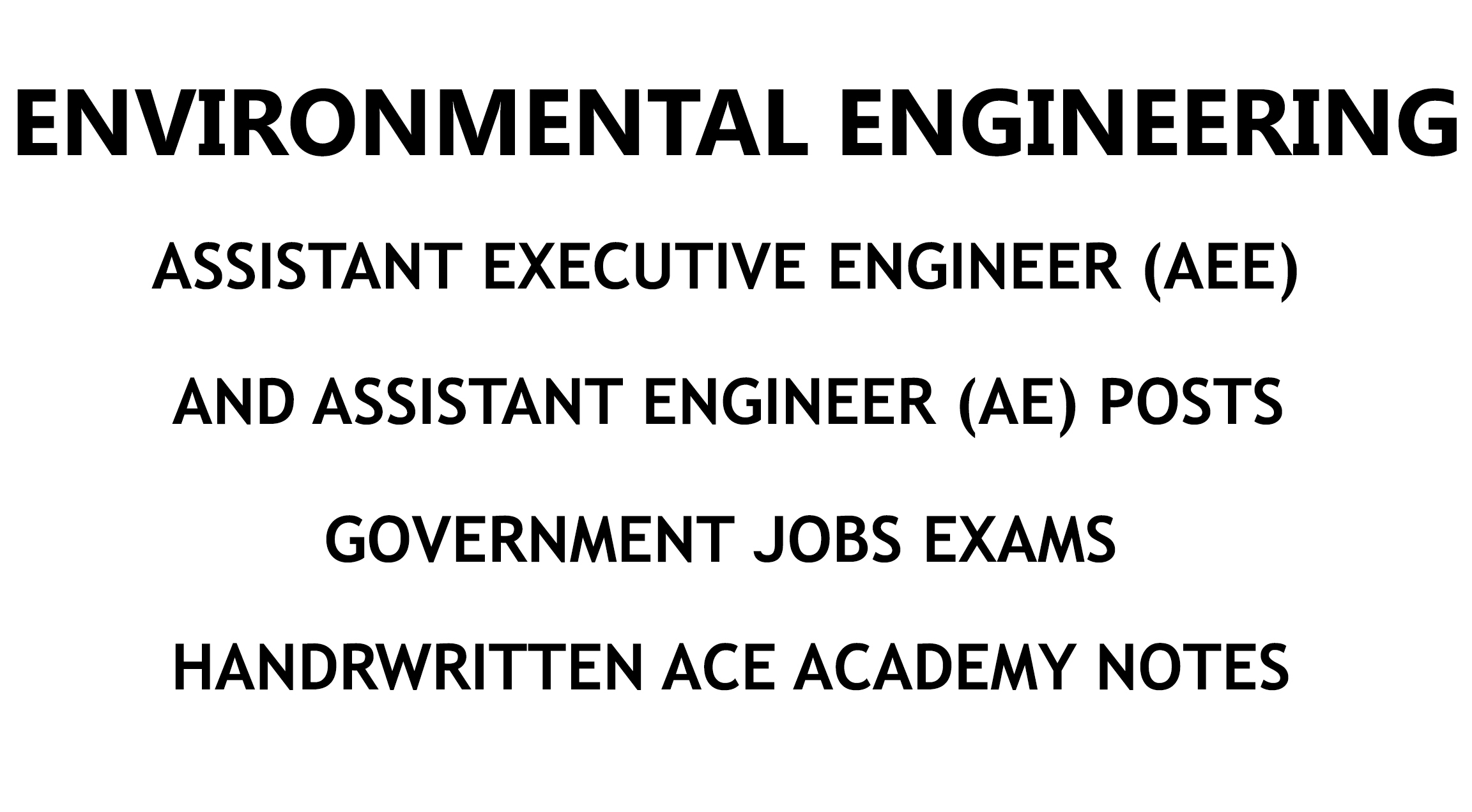 Environmental engineering ae aee handwritten ace academy notes fandeluxe Image collections