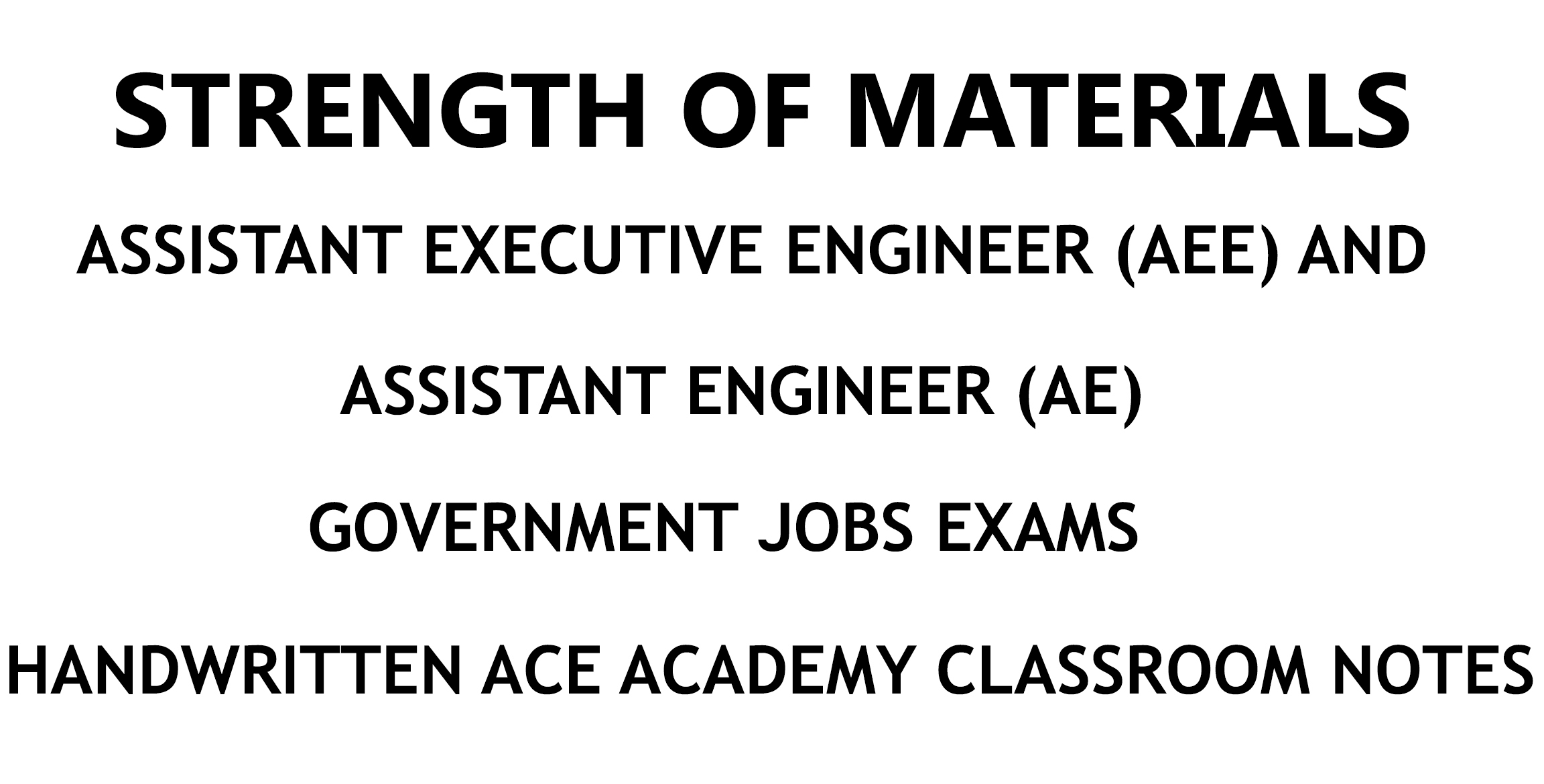 Strength of materials ae aee ace academy handwritten notes pdf fandeluxe Choice Image