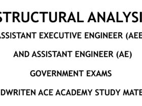 Structural Analysis - AE - AEE - Civil Engineering Handwritten Notes [CivilEnggForAll.com]
