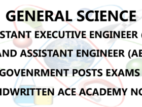 General Science AE AEE Civil Engineering Handwritten Notes PDF