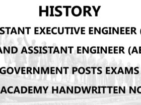 History AE AEE Civil Engineering Handwritten Notes PDF