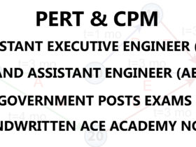 PERT AND CPM AE AEE ACE ACADEMY HANDWRITTEN NOTES PDF DOWNLOAD