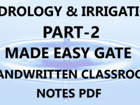 Hydrology & Irrigation Made Easy GATE Handwritten Notes Part-2 PDF