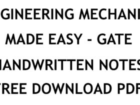 Engineering Mechanics Made Easy GATE Handwritten Notes PDF