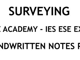 Surveying IES ESE Exam Ace Academy Handwritten Classroom Notes PDF