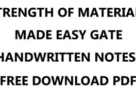 Strength of Materials Made Easy GATE Handwritten Notes PDF Download
