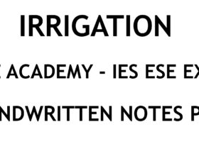 Irrigation IES ESE Exam Ace Academy Handwritten Classroom Notes PDF
