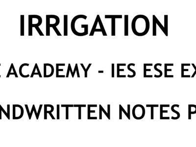 Surveying IES ESE Exam Ace Academy Handwritten Classroom Notes