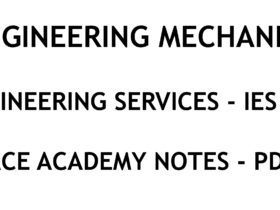 Engineering Mechanics IES ESE Ace Academy Handwritten Notes