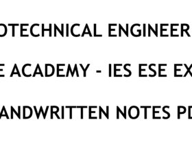Geotechnical Engineering IES ESE Exam Ace Academy Notes