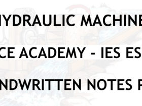 Hydraulic Machines IES ESE Ace Academy Handwritten Notes PDF
