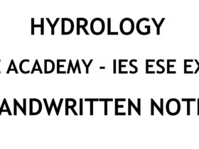 Hydrology IES ESE Ace Academy Handwritten Classroom Notes PDF
