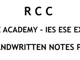 RCC IES ESE Ace Academy Handwritten Notes Free Download PDF