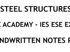 Steel Structures IES ESE Ace Academy Handwritten Notes PDF