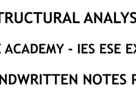 Structural Analysis IES ESE Ace Academy Handwritten Notes PDF