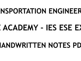 Transportation Engineering IES ESE Ace Academy Handwritten Notes