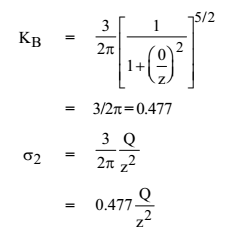 Bousinesq's Equation r=0