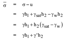 Effective Stress Formula Derivation 2