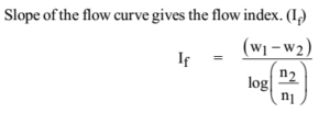 Slope of Flow Curve