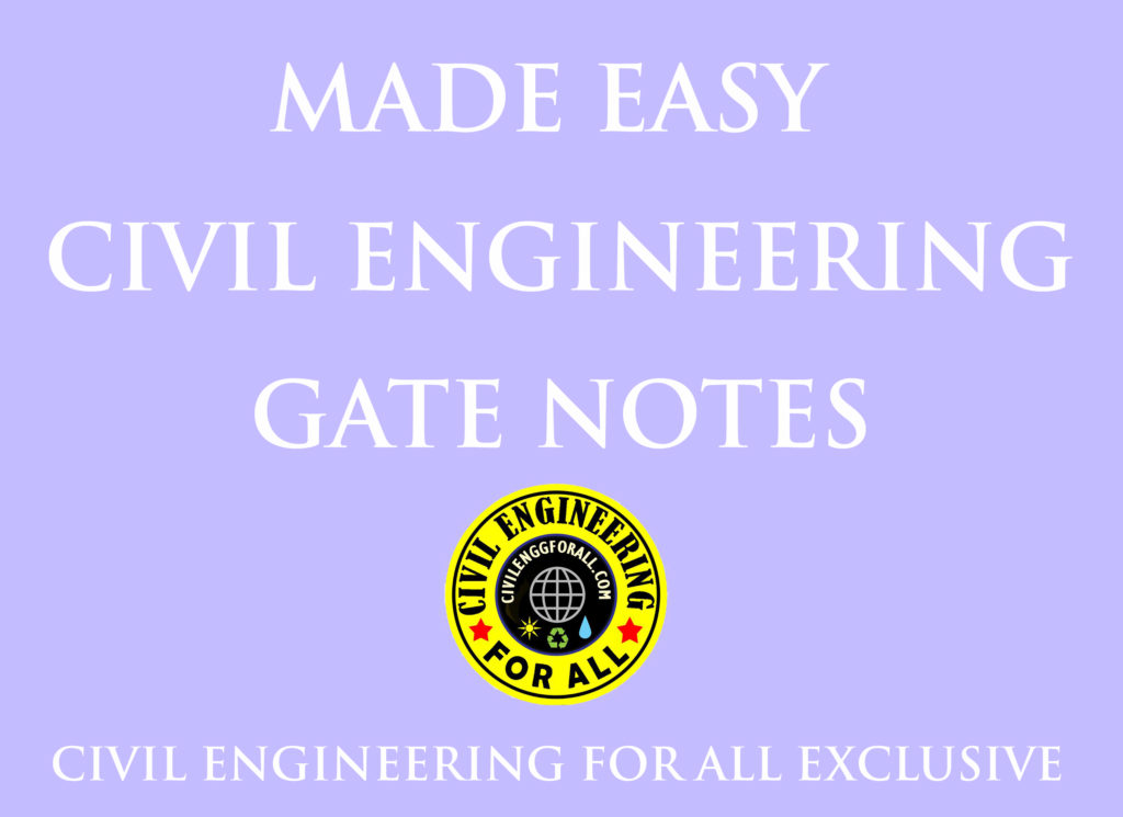 MADE EASY CIVIL ENGINEERING GATE NOTES PDF FREE DOWNLOAD